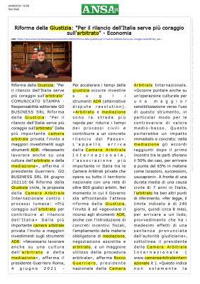 ANSA - Camera Arbitrale Internazionale